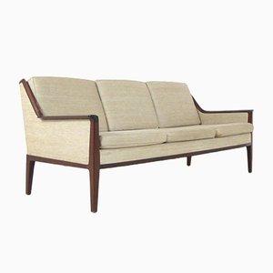 Vintage Sofa mit Gestell aus Mahagoni, 1950er
