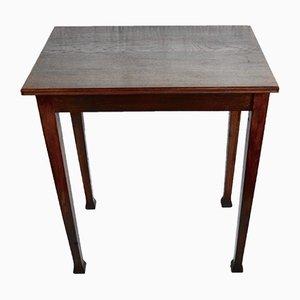Antique Art Nouveau Oak Side Table, 1900s