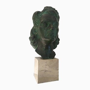 Frauenkopfskulptur von Tommaso Bertolino, 1938