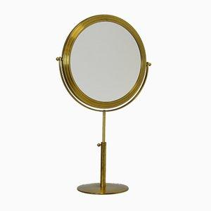 Vintage Scandinavian Modern Brass Vanity Mirror