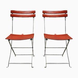 Chaises Vintage en Cuir par Marco Zanuso pour Zanotta, 1970s, Set de 2