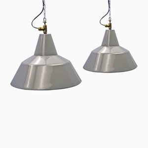 Grey Enameled Pendants from Philips, 1950s, Set of 2