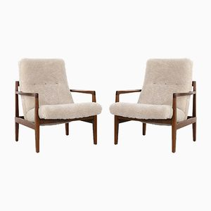 Mid-Century Lounge Chairs by Jens Risom, 1950s, Set of 2