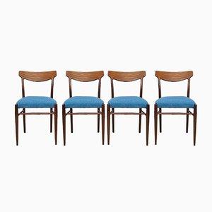 Mid-Century Esszimmerstühle von Lübke, 1960er, 4er Set