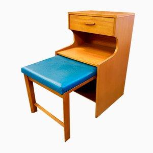 Mid-Century Telefontisch aus Teak von Chippy Heath