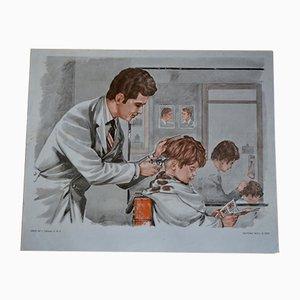Affiche Pédagogique The Barber et the Baker de MDI, 1970s