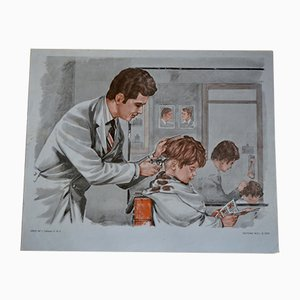 Der Friseur und der Bäcker Schulposter von MDI, 1970er