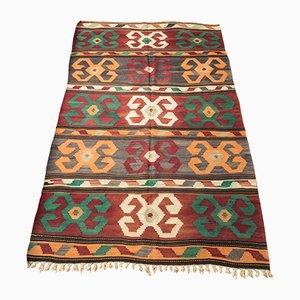 Alfombra Kilim turco Mid-Century de lana, años 60