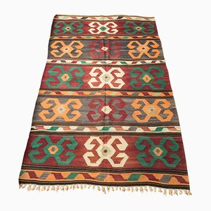 Mid-Century Turkish Wool Kilim Rug, 1960s