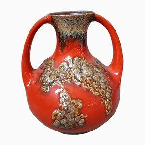 Hohe Fat Lava Vase von Jasba, 1960er