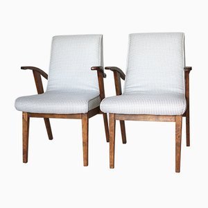 Vintage Light Easy Chairs by Mieczyslaw Puchala, 1970s, Set of 2
