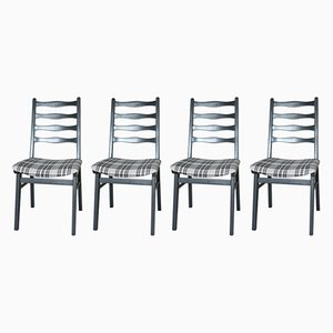 Graue Vintage Stühle, 1970er, 4er Set