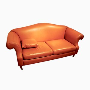 Vintage Leather Club Sofa, 1980s