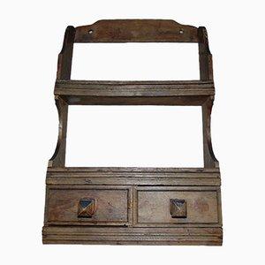 Vintage Wooden Spice Rack, 1940s