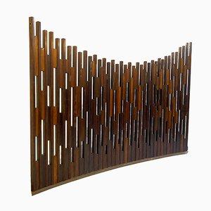 Geschwungene Mid-Century Trennwand aus Holz