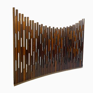 Mid-Century Curved Wooden Screen