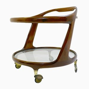 Oval Bar Cart by Cesare Lacca, 1950s