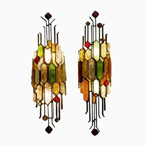 Sculptural Wall Lights from Poliarte, 1950s, Set of 2