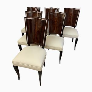 French Art Deco Chairs by Gouffè, Set of 6