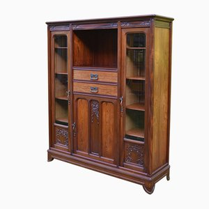 French Art Nouveau Mahogany Bookcase from Gauthier-Poinsignon, 1910s