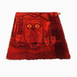 Dänischer Teppich mit Eulen-Motiv von Ege Taepper, 1970er