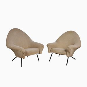 Model 770 Lounge Chairs by Joseph-André Motte for Steiner, 1958, Set of 2