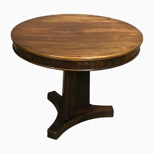 Art Deco Mahogany Pedestal Table, 1930s