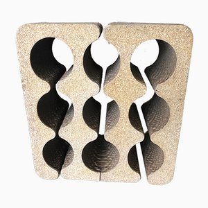 Botellero de vino de cartón y corcho de Frank Gehry, años 80