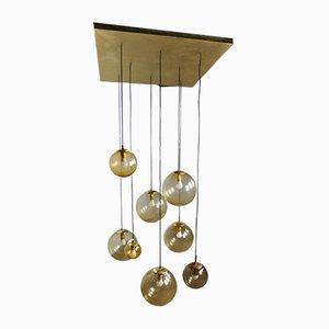 Lámpara de araña con bolas, años 60