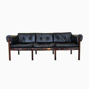 Vintage Love Seat aus Palisander & Leder von Arne Norell für Coja