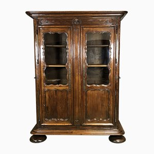 18th-Century Cherry & Oak Bookcase