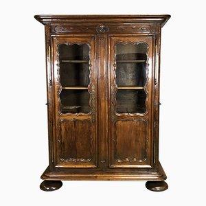 18th-Century Cherry & Oak Bookcase
