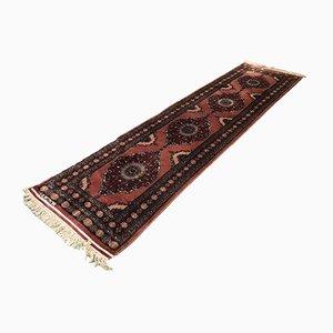 Mid-Century Teppich aus handgefertigter Wolle und Seide