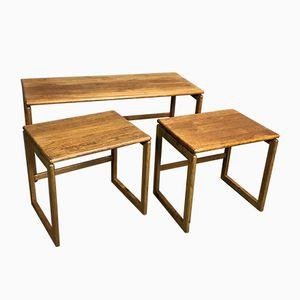 Tables Gigognes Scandinave Vintage en Teck