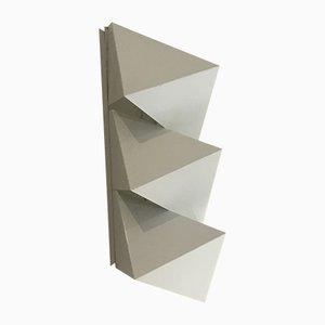 Aplique minimalista de metal de Dijkstra Lampen, años 70