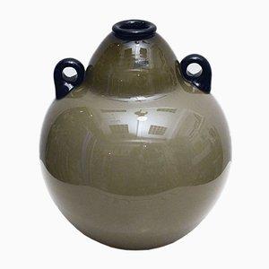Large Murano Glass Amphora Vase by Alfredo Barbini, 1970s