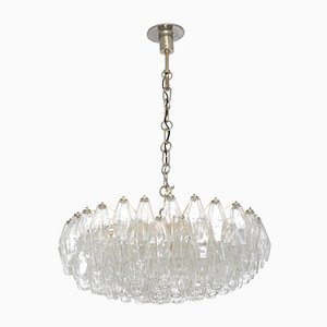 Mid-Century Murano Glass Poliedri Chandelier by Carlo Scarpa for Venini, 1958