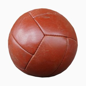 Vintage Leather Medicine Ball, 1950s
