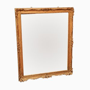 Antique Gilt & Embossed Wall Mirror