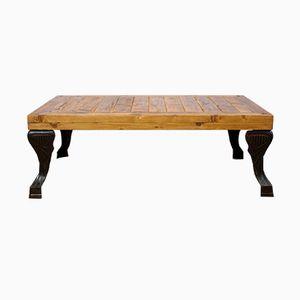 Table Basse avec Pieds de Baignoire Antique