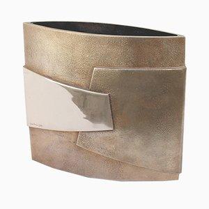 Jarrón de bronce de Esa Fedrigolli para Esart, años 70
