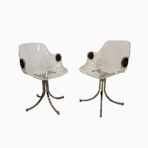 Armlehnstühle aus Plexiglas von Boris Tabacoff, 1970er, 2er Set