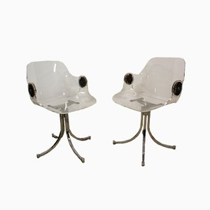 Plexiglas Armchairs by Boris Tabacoff, 1970s, Set of 2