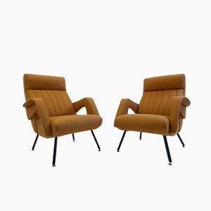 Italienische Mid-Century Armlehnstühle, 1960er, 2er Set