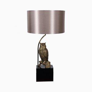 Mid-Century Brass Owl Table Lamp, 1960s