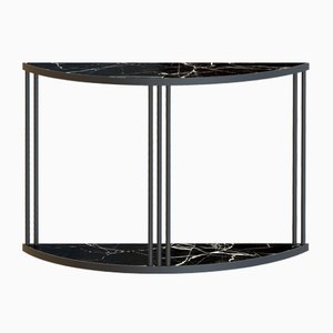 Black ROMA Console Table with Black Marble Top by Alex Baser for MIIST
