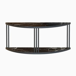 Black ROMA Sideboard Console with Black Marble by Alex Baser for MIIST