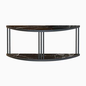 Schwarzes ROMA Sideboard & Konsole mit schwarzer Marmorplatte von Alex Baser für MIIST