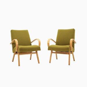 Vintage Sessel aus Eiche von Thonet, 1960er, 2er Set