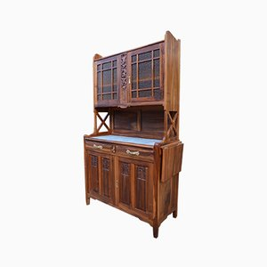 Art Nouveau Carved Solid Cherry Buffet from La Ruche, 1911